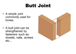 What is the easiest woodworking joint?