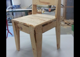 """Plans for the """"upcycled pallet chair."""""""